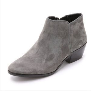 SAM EDELMAN Petty Ankle Bootie Gray Suede Size 9